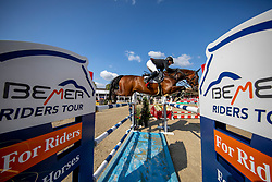 BRINKMANN Markus (GER), PIKEUR DYLON<br /> Münster - Turnier der Sieger 2019<br /> MARKTKAUF - CUP<br /> BEMER-Riders Tour - Qualifier for the rating competition (comp no 11)  - Stechen<br /> CSI4* - Int. Jumping competition with jump-off (1.50 m) - Large Tour<br /> 03. August 2019<br /> © www.sportfotos-lafrentz.de/Stefan Lafrentz