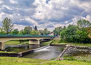 Most na rzece Mszanka, Mszana Dolna, Polska<br /> Bridge on the Mszanka river, Mszana Dolna, Poland