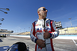 February 9, 2018 - Avondale, Arizona, United States of America - February 09, 2018 - Avondale, Arizona, USA: Tony Kanaan (14) gets suited up to take to the track for the Prix View at ISM Raceway in Avondale, Arizona. (Credit Image: © Justin R. Noe Asp Inc/ASP via ZUMA Wire)