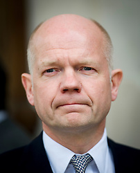 © Licensed to London News Pictures. 16/05/2012. London, UK. Foreign Secretary William Hague leaving St Martin in the Fields church, London following a memorial service held for American Sunday Times journalist Marie Colvin, who died covering the siege of Homs in Syria.  Photo credit : Ben Cawthra/LNP