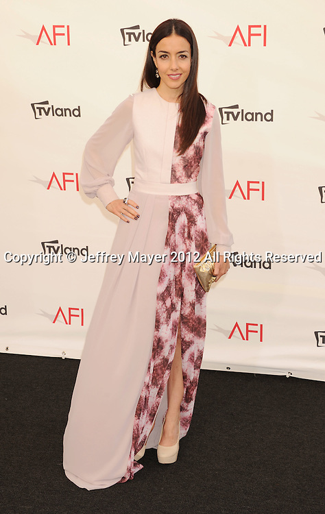 LOS ANGELES, CA - JUNE 07: Cecilia Suarez arrives at the 40th AFI Life Achievement Award honoring Shirley MacLaine at Sony Pictures Studios on June 7, 2012 in Los Angeles, California.