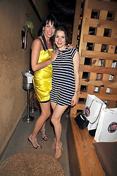 Left to right, ASSIA WEBSTER and LAUREN KEMP at a treasure hunt and dinner hosted by Fiat to celebrate the launch of the Fiat 500 C held at Zuma, Raphael Street, London on 29th June 2009.