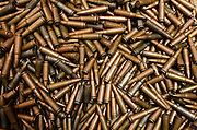 Confiscated & decommissioned poacher's bullets<br /> Mbomo African Park's Congo Headquarters<br /> Odzala - Kokoua National Park<br /> Republic of Congo (Congo - Brazzaville)<br /> AFRICA