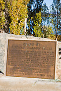 Historic plaque at the grave of Adeline Carson Stilts (Kit Carson's daughter), Mono Basin National Scenic Area, California