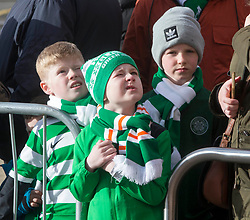 Celtic fans during the William Hill Scottish Cup fifth round match at Celtic Park, Glasgow.