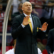 BC Khimki MR's head coach Rimas Kurtinaitis during their Turkish Airlines Euroleague Basketball Top 16 Game 1 match Besiktas between BC Khimki MR at Abdi ipekci Arena in Istanbul, Turkey, Thursday, December 27, 2012. Photo by TURKPIX