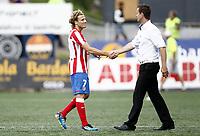 Fotball , 4. august 2011, Europa League 3rd. Qual<br /> Strømsgodset - Atletico Madrid<br /> Diego Forlan, AM<br /> Trener SIF , Ronny Deila