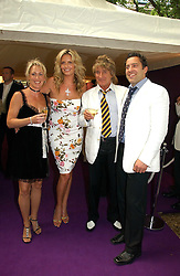 Left to right, LOUISE CROCKER, PENNY LANCASTER, ROD STEWART and OLIVER LANCASTER at theThe Summer Ball in Berkeley Square , Londin W1 in aid of the Prince's Trust on 6th July 2006.<br /><br />NON EXCLUSIVE - WORLD RIGHTS