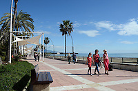 Promenade, paseo maritimo, Mediterranean, Mediterraneo, Estepona, Malaga, Andalucia, Andalusia, Spain, Espana, Costa del Sol, tourism, travel, holidays, 201302201103..Copyright Image from Victor Patterson, 54 Dorchester Park, Belfast, UK, BT9 6RJ..Tel: +44 28 9066 1296.Mob: +44 7802 353836.Voicemail +44 20 8816 7153.Skype: victorpattersonbelfast.Email: victorpatterson@me.com.Email: victorpatterson@ireland.com (back-up)..IMPORTANT: If you wish to use this image or any other of my images please go to www.victorpatterson.com and click on the Terms & Conditions. Then contact me by email or phone with the reference number(s) of the image(s) concerned.
