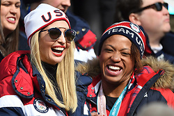 U.S. President Donald Trump's daughter Ivanka, left, shares a laugh with United States women's two-man bobsled silver medallist Lauren Gibbs as they watch the four-man bobsled final at the Pyeongchang 2018 Winter Olympic Games in South Korea, Sunday, February 25, 2018. Photo by Jonathan Hayward/CP/ABACAPRESS.COM