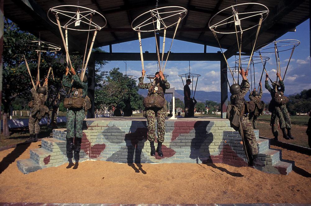 Parachute training, commando base, Tolemaida, Tolima, Colombia