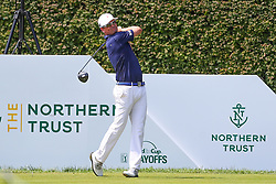 August 26, 2018 - Paramus, NJ, U.S. - PARAMUS, NJ - AUGUST 26:   Zach Johnson of the United States plays his shot from the 17th tee  during the final round of The Northern Trust on August 26, 2018 at the Ridgewood Championship Course in Ridgewood, New Jersey. (Photo by Rich Graessle/Icon Sportswire) (Credit Image: © Rich Graessle/Icon SMI via ZUMA Press)