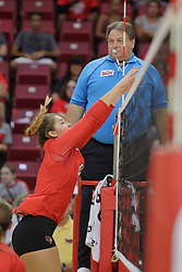 19 August 2017:  Lexi Wallen and Bob Poyer during a college women's volleyball match Scrimmage of the Illinois State Redbirds at Redbird Arena in Normal IL (Photo by Alan Look)