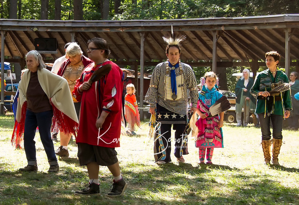 "A final dance ""honoring song"" in the circle during the Laconia Indian Historical Association's Pow Wow  on Sunday afternoon.  (Karen Bobotas/for the Laconia Daily Sun)"