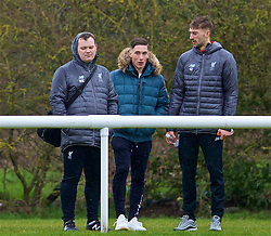 DERBY, ENGLAND - Friday, March 8, 2019: Liverpool's Harry Wilson (C) watches his team-mates during the FA Premier League 2 Division 1 match between Derby County FC Under-23's and Liverpool FC Under-23's at the Derby County FC Training Centre. (Pic by David Rawcliffe/Propaganda)