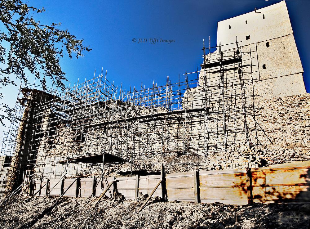 Oman, Bahla Fort, under UNESCO-sponsored restoration.