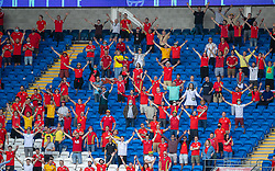 CARDIFF, WALES - Saturday, June 5, 2021: Wales supporters during an International Friendly between Wales and Albania at the Cardiff City Stadium in their game before the UEFA Euro 2020 tournament. (Pic by David Rawcliffe/Propaganda)