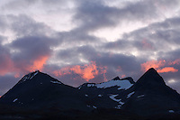 Cloud formations at sunset over Bielloriehppe, Sarek National Park, Laponia World Heritage Site, Sweden