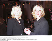 Lauren Booth, Emma Booth.Tomasz Starzewski, Park Lane Hotel. London.22/2/98. film 9869f23<br />