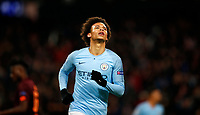 Football - 2018 / 2019 UEFA Champions League - Group F: Manchester City vs. 1899 Hoffenheim<br /> <br /> Leroy Sane of Manchester City celebrates his second goal at The Etihad.<br /> <br /> COLORSPORT/LYNNE CAMERON