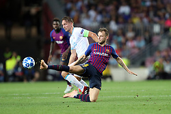 September 18, 2018 - Barcelona, Catalonia, Spain - Ivan Rakitic of FC Barcelona duels for the ball with Luuk De Jong of PSV Eindhoven during the UEFA Champions League, Group B football match between FC Barcelona and PSV Eindhoven on September 18, 2018 at Camp Nou stadium in Barcelona, Spain (Credit Image: © Manuel Blondeau via ZUMA Wire)