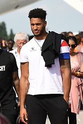 Tony Yoka seen upon Team France's arrival at the Roissy-Charles de Gaulle airport on the outskirts of Paris, France, on July 16, 2018 after winning the Russia 2018 World Cup final football match. Photo by ABACAPRESS.COM