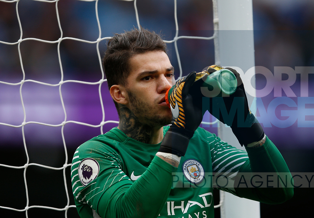 Ederson of Manchester City during the premier league match at the Etihad Stadium, Manchester. Picture date 22nd September 2017. Picture credit should read: Simon Bellis/Sportimage