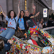 London, England, UK. 17th September 2017.Irelan win Dublin v Mayo celebrity on a crazy decorate car attends FASHION SCOUT SS18 Day 3 at Freemasons Hall.