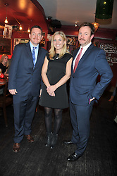 Left to right, SIMON WARRENDER co-founder of W&W Private Jewellers, jeweller designer EMMA CLARKSON WEBB and RICHARD WARRENDER co-founder of W&W Private Jewellers at a party to celebrate the best of W&W Jewellery held at Barts, 87 Sloane Avenue, London on 26th November 2012.
