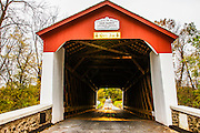 The Van Sant or Beaver Dam covered bridge in Bucks County, New Hope,Pennsylvania, USA