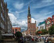 Widok na Długi Targ i Ratusz Głównego Miasta