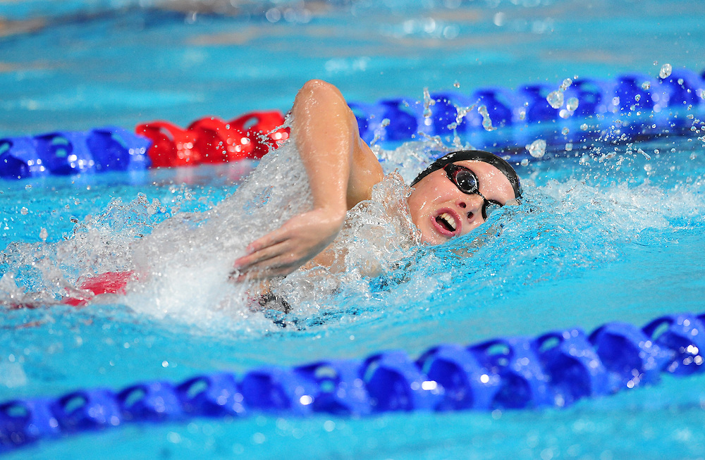 Wales' Danielle Stirrat competes in the women's 4x200m freestyle final <br /> <br /> Photographer Chris Vaughan/CameraSport<br /> <br /> 20th Commonwealth Games - Day 3 - Saturday 26th July 2014 - Swimming - Tollcross International Swimming Centre - Glasgow - UK<br /> <br /> © CameraSport - 43 Linden Ave. Countesthorpe. Leicester. England. LE8 5PG - Tel: +44 (0) 116 277 4147 - admin@camerasport.com - www.camerasport.com