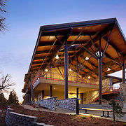 This is a photograph in a series of photographs detailing the Sugar Pine Science Building of Columbia Community College, Sonora, CA Education Infrastructure Architectural Example of Chip Allen Photography.