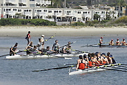 San Diego, California. USA. General Views, Crews boating from the beach. 2013 Crew Classic Regatta, Mission Bay.  11:20:01.  Saturday  06/04/2013   [Mandatory Credit. Peter Spurrier/Intersport Images]  ..