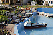 Harbour at Mini Israel, Mini Israel is a park of scaled down models of sites and building in Israel, All models are exact copies of  the sites, buildings and landscapes from around the country built at a scale of 1:25