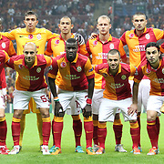 Galatasaray's team group during their UEFA Champions League Group H matchday 2 soccer match Galatasaray between Braga at the TT Arena Ali Sami Yen Spor Kompleksi in Istanbul, Turkey on Tuesday 02 October 2012. Photo by TURKPIX