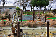 Lone pirate in crazy golf attraction, closed during the coronavirus pandemic on 7th March, 2021 in Maldon, Essex, United Kingdom.