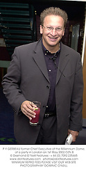 P Y GERBEAU former Chief Executive of the Millennium Dome, at a party in London on 1st May 2002.OZN 8