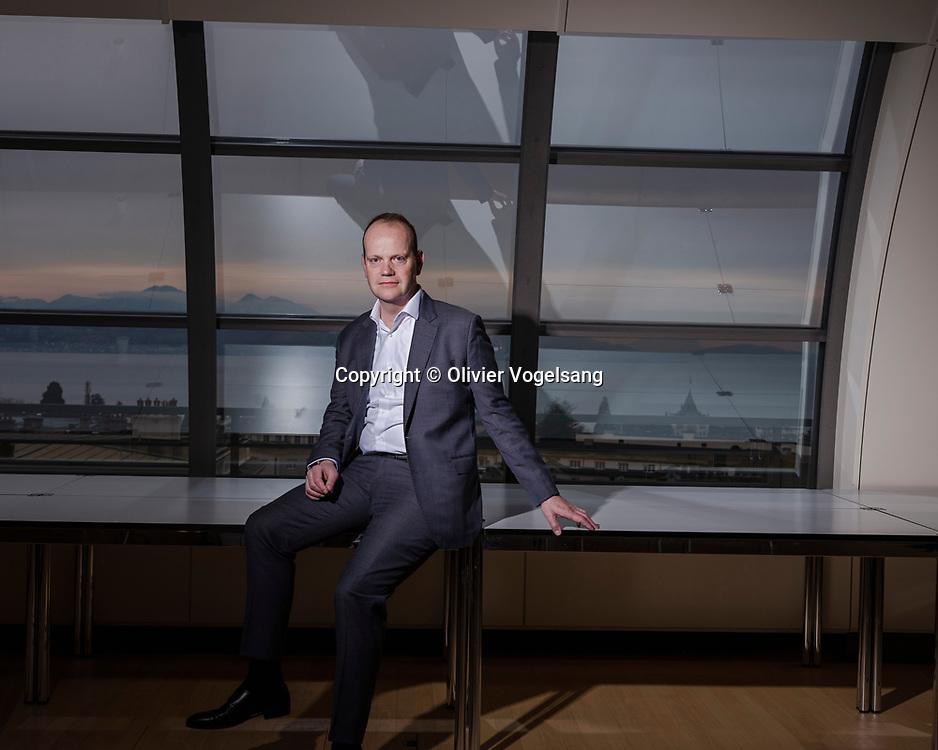Lausanne, février 2020. Thomas Boyer, nouveau patron de Groupe Mutuel.  © Olivier Vogelsang