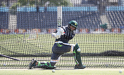 Pakistan's Imam Ul Haq during the nets session at the Bristol County Ground.