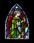 Detail of 'Fred Emery Beane II Memorial Window,' Artist and date unknown.  St. Matthew and Barnabas, Hallowell, Maine.