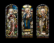 St. Elizabeth with the young St. John the Baptist; the Virgin Mary with the infant Christ; and Anna the Prophetess.<br />