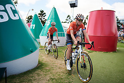 Gillian Ellsay (CAN) weaves here way through the buoys at Deakin University Elite Women Cadel Evans Road Race 2019, a 113 km road race starting and finishing in Geelong, Australia on January 26, 2019. Photo by Sean Robinson/velofocus.com