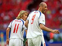 v.l. Pavel Nedved, Jan Koller Tschechien<br /> USA - Tsjekkia<br /> Fussball WM 2006 USA - Tschechien<br /> Norway only<br /> Fotball VM