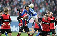 Fotball<br /> Tyskland<br /> 06.03.2010<br /> Foto: Witters/Digitalsport<br /> NORWAY ONLY<br /> <br /> Tor 0:1 Joel Matip Schalke<br /> Bundesliga Eintracht Frankfurt - FC Schalke 04