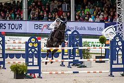 MUFF Werner (SUI), Jolie VH Molenhof<br /> Hagen - Horses and Dreams 2019<br /> Preis der LVM Versicherung - CSI4* Quali. BEMER-RIDERS TOUR-Wertung<br /> 27. April 2019<br /> © www.sportfotos-lafrentz.de/Stefan Lafrentz