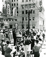 """1936 Filming """"Hollywood Boulevard"""" at Hollywood and Vine"""