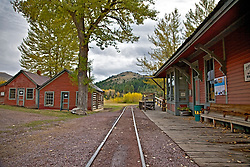 small gage railroad, Virginia City Montana