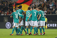 Thomas Muller (Germany) celebrates after his goal with teammates during the International Friendly Game football match between Germany and Spain on march 23, 2018 at Esprit-Arena in Dusseldorf, Germany - Photo Laurent Lairys / ProSportsImages / DPPI