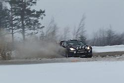 06.02.2014, Torsby, Hagfors, SWE, FIA, WRC, Schweden Rallye, Tag 2, im Bild Elfyn Evans/Daniel Barritt (M-Sport WRT/Ford Fiesta RS WRC), Action / Aktion // during the FIA WRC Sweden Rally at the Torsby in Hagfors, Sweden on 2014/02/07. EXPA Pictures © 2014, PhotoCredit: EXPA/ Eibner-Pressefoto/ Bermel<br /> <br /> *****ATTENTION - OUT of GER*****